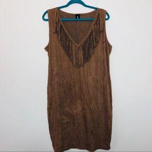 Libian Pocahontas Brown Fringe Halloween Dress 2XL